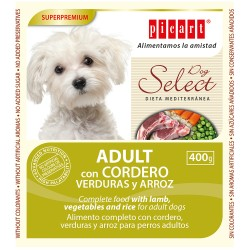 Lata Picart Select Dog Cordero 400gr
